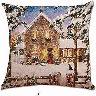 Aimik NewPillow Case1Pcs Christmas Fashion Xmas Santa Claus Cushion Cover Pillow Case Square Car Home Decor (E, 45cm45cm)