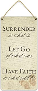 YILMEN Home Art Decor Vintage Poster Surrender to What is. Let Go of What was. Have Faith in What Will Be. -Poster for Pub...