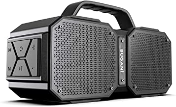 BUGANI Bluetooth Speakers, M83 Portable Bluetooth Speakers 5.0, 40W Super Power, Rich Woofer, Stereo Loud. Suitable for Family Gatherings and Outdoor Travel. (Black)