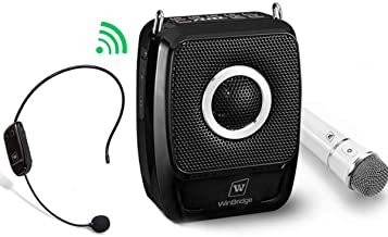 W WINBRIDGE Portable PA System, Bluetooth Speaker with Microphone, 2 Mic and Speaker..
