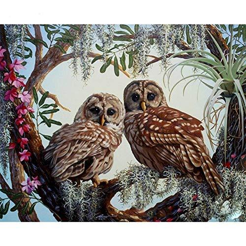 Pintura de animales por números, juego de paisaje, pintura acrílica, kits de bricolaje para adultos, imágenes, dibujo, lienzo, decoración W13 30x40cm