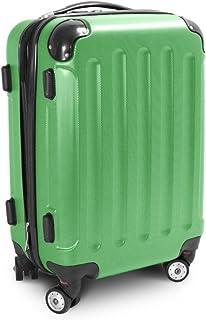 BERWIN Trolley Reisekoffer Reisetasche Gepäcktasche Größe M Stripes Farbe Grün