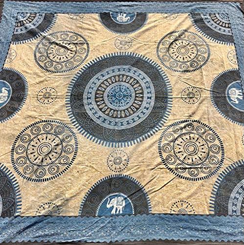 El Ático Home. Tapiz de Mandala. Tapiz Decorativo Elephant. Pareo de Playa Grande. Tapiz de 100% Algodón...