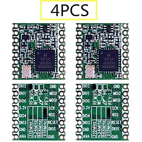 XIAOFANG 4PCS RFM95 RFM95W 868Mhz 915MHz RFM95-868MHz RFM95-915MHz LoRaTM Wireless Transceiver SX1276 (Color : Rfm95w 915MHZ)