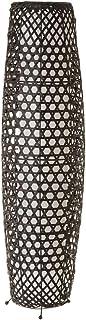Lámpara de pie trenzada rústica de bambú negra de 88 cm - LOLAhome
