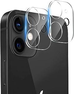 『2枚セット』for iPhone 12 用 カメラフィルム 液晶強化ガラス 全面フルカバー 高透過率99% 硬度9H 気泡防止 飛散防止処理 レンズ保護ガラスフィルム iPhone 12 用 カメラレン保護フィルム