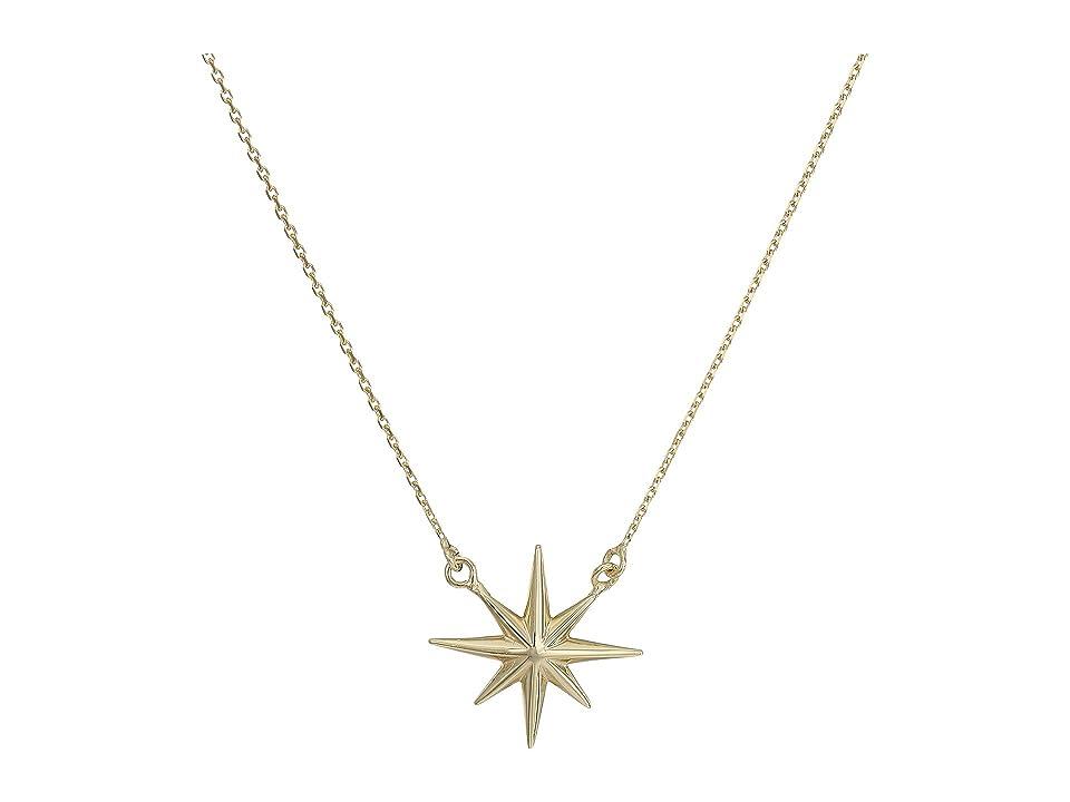 Dee Berkley - Dee Berkley 14KT Yellow Gold North Star Necklace