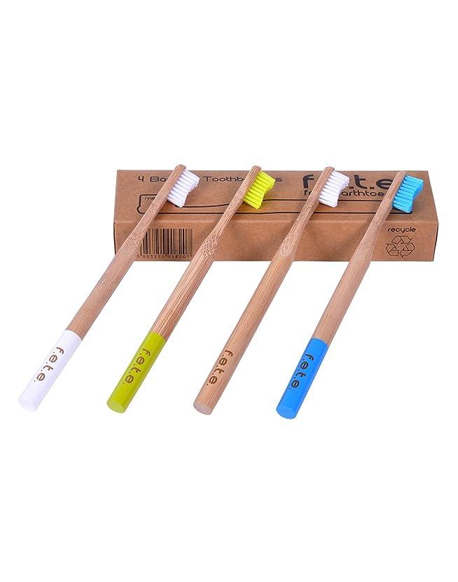 時折崇拝します賞賛Bamboo toothbrush Best Eco-Friendly biodegradable Bamboo Handles and BPA-Free Non-Plastic Nylon Bristles For Natural Dental Care Perfect Environmentally Friendly Way To Help Our Planet Go Green by f.e.t.e. (from earth to earth)