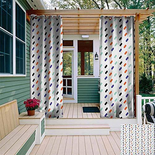 Rideau d'extérieur personnalisé avec petits cercles à pois de fond pour fille abstraite, décoration de chambre thermique, multicolore W84\