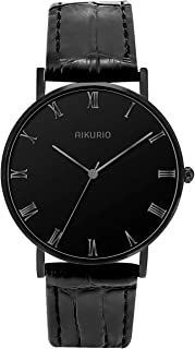 AIKURIO Women Fashion Simple Watch 30M Waterproof with Leather Strap and Ultra-Thin Case AKR009