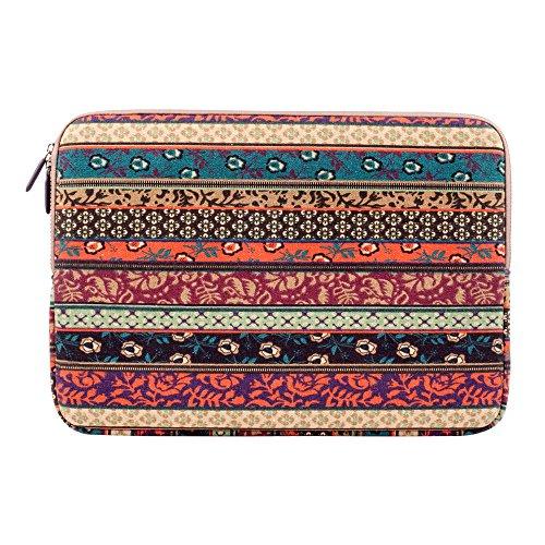 Plemo 13 Inch Bohemian Sleeve Canvas Fabric Carrying...