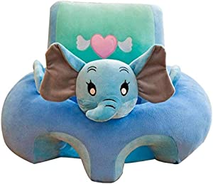 Fengbingl-bb Baby Support Sofa Baby Seat Support Cushion Infant Chair Sofa Cartoon Animal Elephant Shape Baby Learning Sitting Chair Kids Plush Pillow Toys Gift Children Couch Bed Baby Sitting Chair
