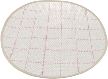 Prettyia Blank Rug Hooking Mesh Canvas for Rug Carpet Latch Hook Crafts Making Round