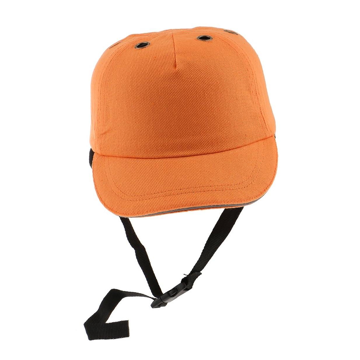 吸収少年駐地Fenteer 高品質 安全ヘルメット 工事 建築 現場 頭保護 耐衝撃 作業ハット  - オレンジ