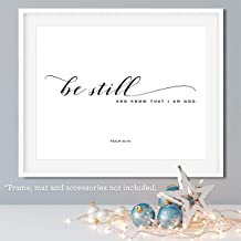 Be Still and Know That I am God, 11x14 Unframed Art Print, Bible Verse Wall Art, Minimalist Home Decor, Makes a Great Gift for Christian