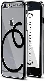 Luxendary Black Initial C4 Design Chrome Series Case for iPhone 6/6S Plus - Titanium Black