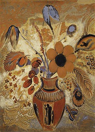 Das Museum Outlet–Etruskische Vase mit Blumen, 1900–10, gespannte Leinwand Galerie verpackt. 29,7x 41,9cm