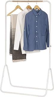 WOLTU SR0076ws Portant à vêtements en Fer,Porte-vêtements portemanteau environ 79x43x145cm,Blanc