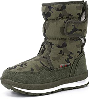 DADAWEN Girl's Boy's Waterproof Outdoor Cold Weather Snow Boots (Toddler/Little Kid/Big Kid)