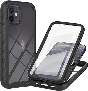 TYWZ Ingebouwde Screen Protector Case voor iPhone 12 Mini,Dual Layer Heavy Drop Protection Shock Absorption Cover met Full...