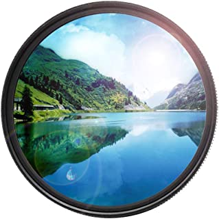 46mm Circular Polarizer Lens (CPL) Filter Ultra-Slim and Multi-Coated Glass Filter for Color Saturation, Contrast & Reflec...