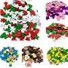 Colori misto Dipinte Bottoni Di Legno Fai Da Te Mestiere Scrapbooking Per Cucito E Natale Decorazione #4