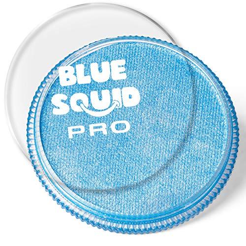 Blue Squid Schminke Face Paint und Bodypaint - Metallic Blau 30g, PRO, Hochwertige, professionelle, wasserbasierte Einzelbehälter, Face und Bodypaint Farbe für Erwachsene, Kinder und SFX