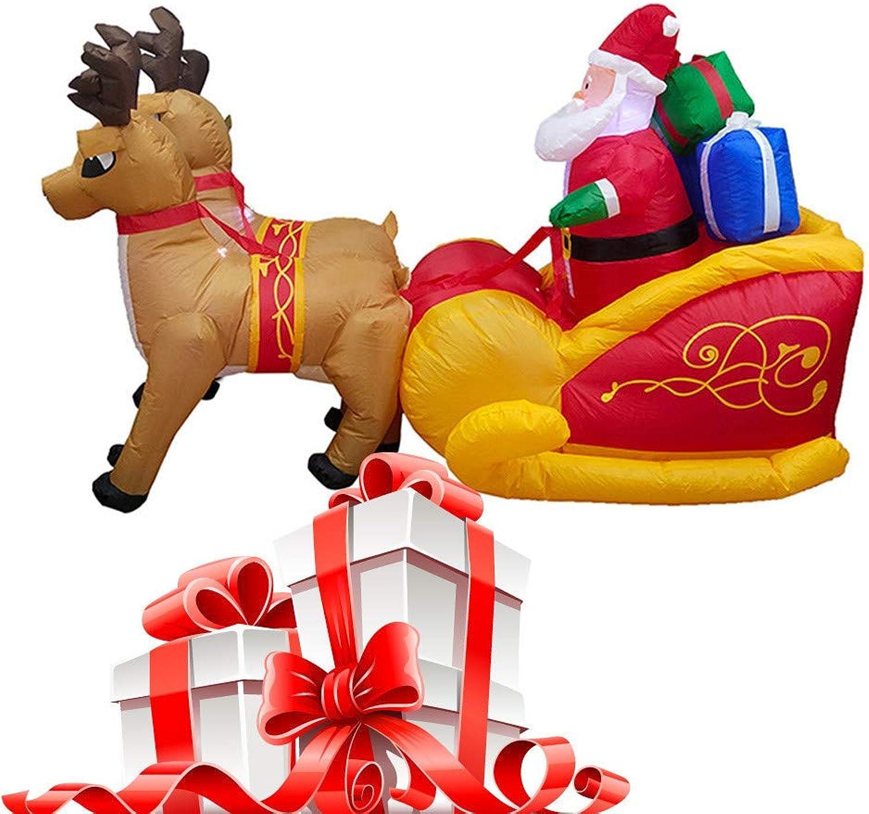 Wawer Weihnachten Aufblasbarer Spielzeug Weihnachtsmann Rentier geformt Puppen Party Dekoration beleuchteter Schlitten gezogen Spielzeug Familien Party Spielzeug B07KK1G2TL Hohe Sicherheit  | Neues Produkt