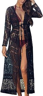 JESPER Women Lace Shawl Cardigans Boho Beach Bikini Maxi Cover Up Lace Kimono
