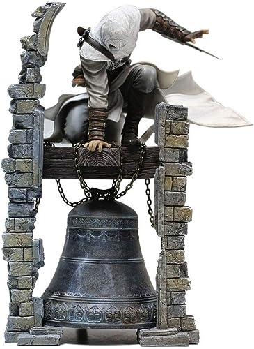 Assassin's Creed voitureactère Modèle Jouet Décoration Altair Altai Cloche Tour Statue Collection Cadeaux Collection Souvenirs Artisanat Cadeaux De Vacances Cadeaux Jeu Amoureux De L'anime (28CM)