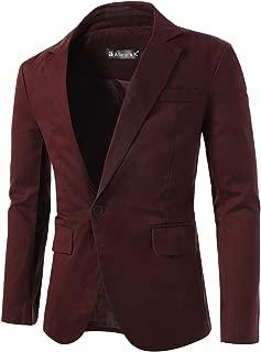 Men's Notched Lapel Button Slim Fit Casual Lightweight Sport Coats Blazer
