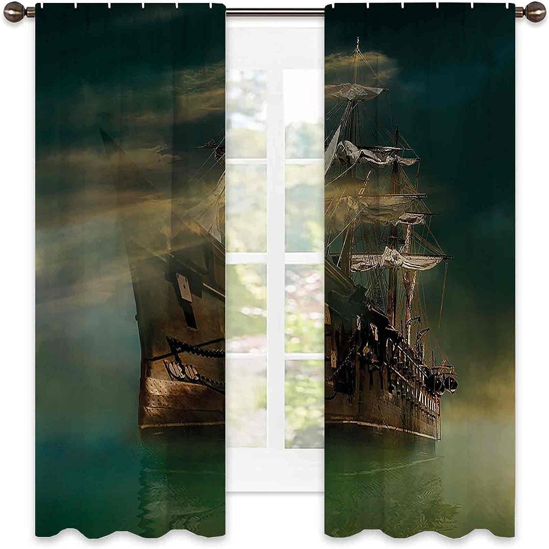 Fantasy 90% Max 47% OFF Blackout Curtains A 2021 new Sailing Ship Old Phantasmagoric