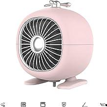 ZHIHQ Mini Calentador, 500 W Calentador De Ventilador Portátil De Espacio Calentador Eléctrico Ventilador con PTC Elemento De Calefacción De Cerámica para La Oficina En Casa Mesa De Mesa,Rosado