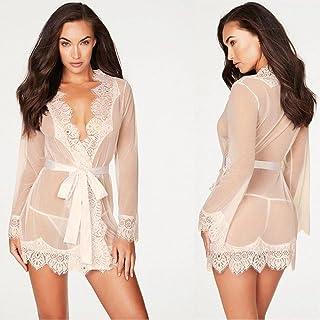 Transparent Sexy Lingerie Costumes Women Lace Babydoll Night Dress Sleepwear Underwear Nightgown