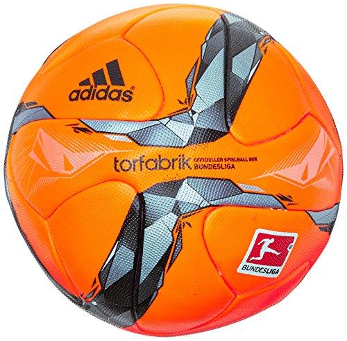 adidas Fußball DFL Torfabrik Winterball, Solar Orange/Silver-/Iron Metal/Black, 5, AC2030
