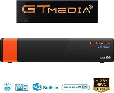 Sofobod GTMEDIA V8 Nova DVB S2 TV Satellite Receiver Satellite decodificador Support 1080P Full HD PowerVu Biss Key Newca CCCAM con Built-in Wif - Naranjai