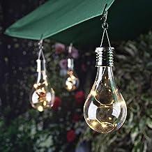 LEDMOMO Waterproof Solar Rotatable Hanging Led Light Lamp Bulb White