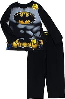 Batman Boys Long Sleeve Pajamas with Cape (Toddler/Little Kid/Big Kid)