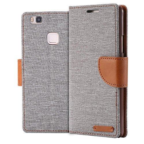ECENCE Handyhülle Schutzhülle Hülle Cover kompatibel für Huawei Y625 Handytasche Grau 11030109