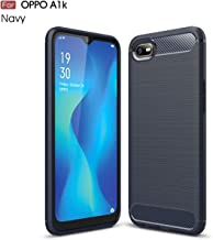Oppo A1K case,Realme C2 case,Silicone Shockproof Cover Durable Ultra Thin Carbon Fiber Soft Protection case for Oppo A1K / Realme C2 Blue OPPO A1K / Realme C2