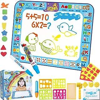 Beauenty 40*30 cm Extra Large Aqua Magic Doodle Mat, Colorful Educational Water Drawing Doodling Mat Coloring Mat for Kids...