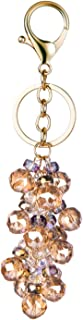 Crystal Glass Beads Keychains for Girls and Women Purse Charms Key Chain Key Ring