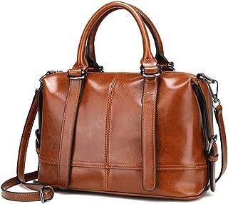 ZXK Black/Brown/Pink Women's Bag Autumn and Winter Fashion Leather Handbags Europe and America Wild Women's Shoulder Bag Messenger Bag Handbag 28 * 13 * 21 (cm) Fashion (Color : Brown)