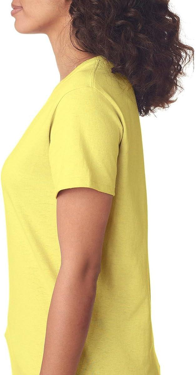 Gildan Womens Heavy Crewneck Cap Sleeve T-Shirt