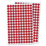 3000 Stück, 10mm Punktaufkleber Klebepunkte Aufkleber Etiketten Markierungspunkte Selbstklebende - Rot