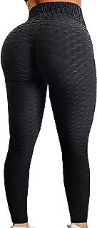 Sexy Women's Texture Leggings Booty Yoga Pants High Waist...