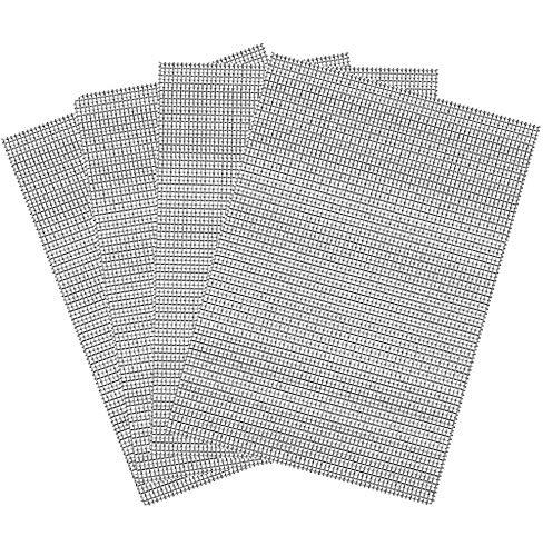 304 Rete di Rinforzo Inossidabile Inox, 4 pcs Maglia Acciaio Inox Rodent Mesh,per Giardino e Recinzioni Mesh per Anti-Zanzare Anti-Roditore Anti-insetti(30cm x 21cm)