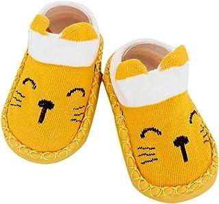 ZEZKT, calcetines y zapatos de bebé de dibujos animados calcetines antideslizantes para niños pequeños chico chica calcetines cortos bebe calcetines de piso para niñas