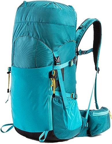CHENG BAG Forfait Alpinisme, De Plein Air Sac De Voyage De Randonnée Sac à Dos Tourisme Haute Capacité Poids Léger Camping Unisexe (Couleur   Azure ash, taille   45L)