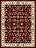 Large Rugs for Living Room 8x11 Red Traditional Area Rugs 8x10 Under 100 Prime Rugs